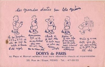 BUVARD 108169 DORYS DE PARIS VETEMENTS HISTOIRE DE France TOTO GUERIN-NOV