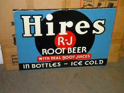 Old Hires Root Beer Soda Pop Tin Metal Sign Original Country Store