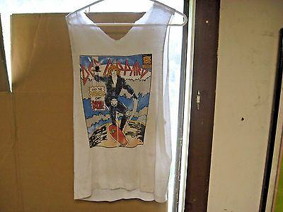 Vintage DEF LEPPARD Comic Book Cover Hysteria Women Of Doom T-Shirt Original