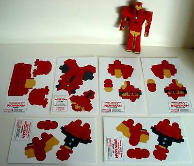 BUILD YOUR OWN IRON MAN Figure  Marvel Comics Promo Item   Set of 6 Card Sheets