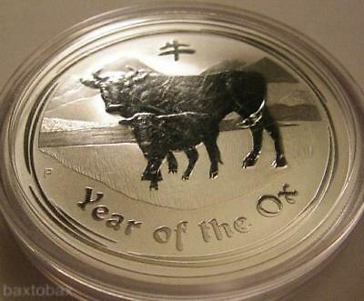 2009 AUSTRALIAN LUNAR YEAR OF THE OX 1 oz. SILVER COIN *BU*
