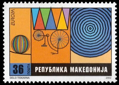 "MACEDONIA 243 - Europa Circus ""Ball on Wire and Bicycle"" (pa79714)"