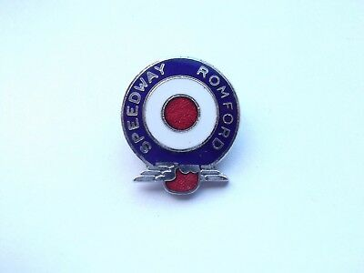 ROMFORD SPEEDWAY MOTORCYCLE CHAMPIONSHIP MODS BIKE RACING VINTAGE PIN BADGE 99p