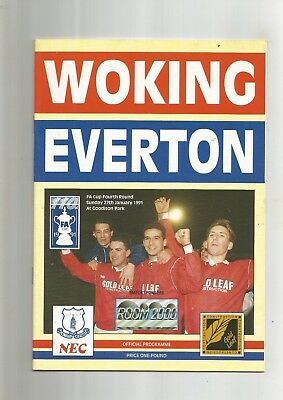 F A Cup 4th Round Woking v Everton 1991
