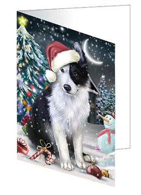 Jolly Christmas Border Collie Dog Set of 10 Holiday Greeting Cards T22