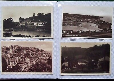 Collection x 200 Topographical Postcards of Devon 1940s to 1960s In Album