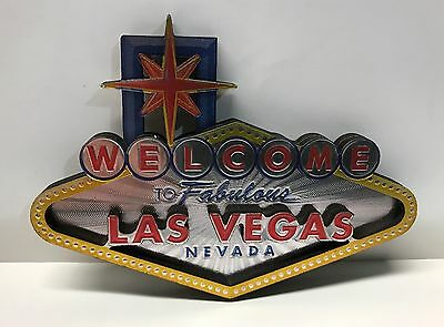 Welcome To Fabulous Las Vegas Sign Sheen Magnet 4 Inch