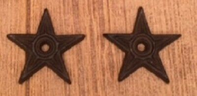 "Center Hole Texas Stars Small 2 3/4"" Cast Iron (Set of Two) Crafts 0170-02108"