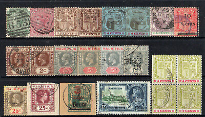 Mauritius - Collection Of 22 Old  Stamps - Good Used