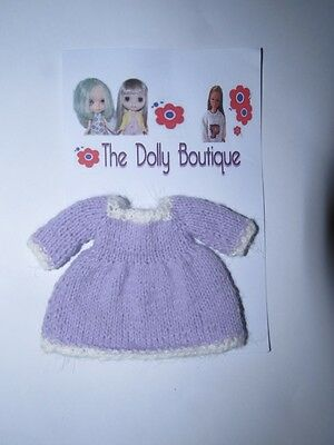 OOAK Hand Knitted Dress for Middie Blythe Lati Yellow  Dolls