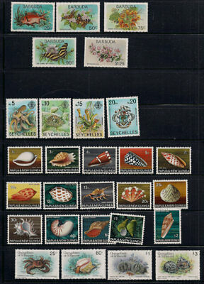 Marine Life Collection Seychelles New Guinea St. Vincent Gambia British Colony