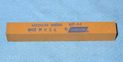 "NORTON MF44 MF-44 MEDIUM India Square Stone Files 1/2"" X 4"" Made USA - NEW"