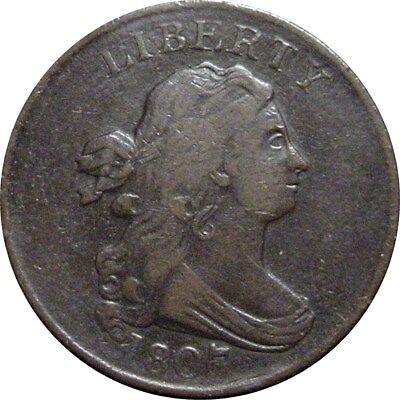 1807 Draped Bust Half Cent--Attractive VF/XF Coin