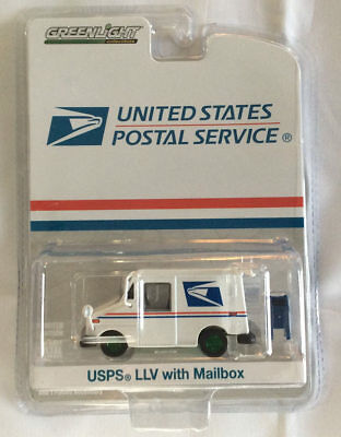 Greenlight 1:64 USPS Postal Delivery Vehicle with Mailbox Postal GREEN MACHINE