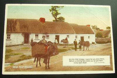 Postcard : Ireland, Irish Turf Sellers : Eire Stamp : Posted 1951
