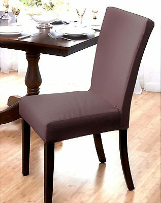 """Markdown !! """"stretch""""  Dining Chair Cover--Subway Tile--Brown--Avail In 4 Colors"""