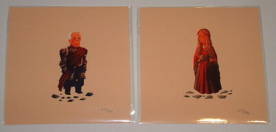 Game of Thrones Tywin & Cersei Lannister Olly Moss Set of Prints Poster 2014