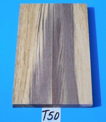 Colorful Jamaican Blue Mahoe Knife Blank Handle Scales~Exotic Wood/exotic Lumber