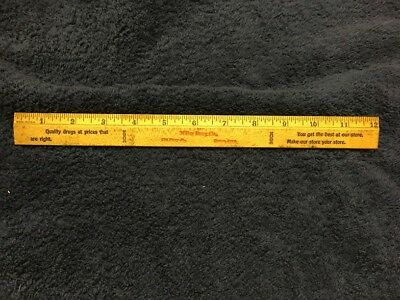 12 Inch Advertising Wooden Ruler, Miller Drug Co., 723 Story St., Boone, Iowa