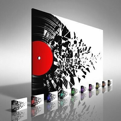 Music Vinyl Record Spin Canvas Print Large Picture Wall Print