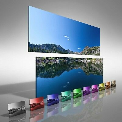 Mountain Reflective Lake Double Canvas Print Large Picture Wall Print