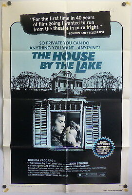 Horror House by the Lake ORIGINAL 1970s 1 Sheet Movie Poster Death Weekend