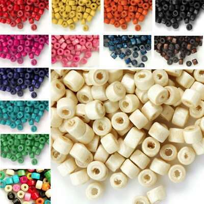 30g(700pcs Approx) Wood Spacer Beads Loose Donut DIY Findings 3x4mm WBSET02