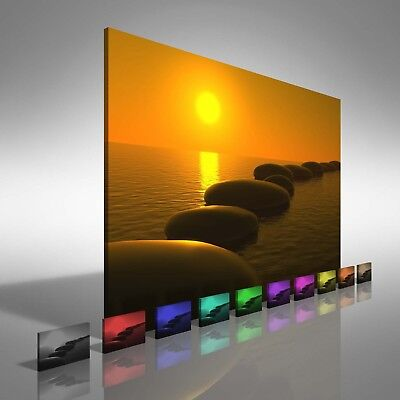 STUNNING SUNSET SEASCAPE CANVAS PICTURE WALL ART LARGE Various Sizes #158