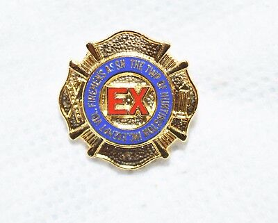 "Township Of Huntington Inc Exempt Vol Fire Assn New York 3/4"" Metal Lapel Pin"