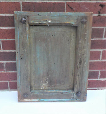 """SPANISH COLONIAL ANTIQUE WOODEN DOOR PANEL OLD MEXICO 22 1/4 x 17 3/8 x 1 5/8"""" g"""