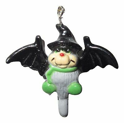 "BAT Charm HALLOWEEN Miniature dollhouse tree Ornament 1 1/4"" Vintage NEW"