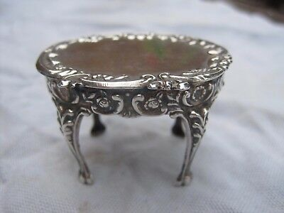 Miniature solid silver antique dining table claw feet doll's house Hollander 16g