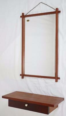 MODERN DANISH DESIGN - TEAK SHELF + MIRROR - Wegner Era