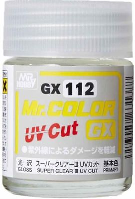 MR HOBBY Color Gunze LACQUER GX112 SUPER CLEARⅢ UV CUT Gloss Paint For Model Kit