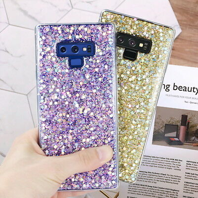Bling Glitter Sparkle Soft TPU Case Cover For Samsung Galaxy Note 9/8 S7 S9 S10