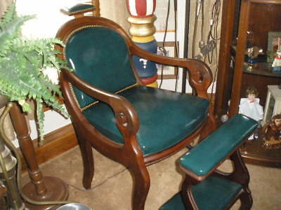 Antique Barber Chair---The Oldest Barber Chair On E-Bay