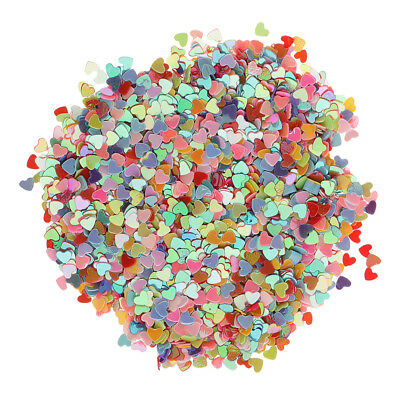 Romantic Love Heart Plastic Table Confetti Throwing Wedding Decor DIY Craft