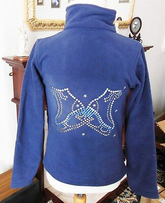 New with Glitzy Ice Skating Fleece Dress Jacket with Crystal Motif Age 8 Years