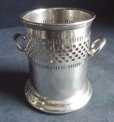 SUPERB ~ Mappin & Webb ~ SILVER Plated ~ Pierced BOTTLE / CUTLERY Holder ~ c1925