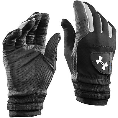 Under Armour 2017 Men's UA ColdGear Thermal Winter Golf Gloves - Black - Pair