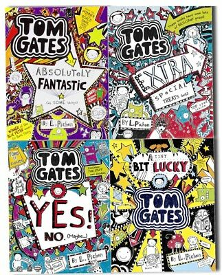 Tom Gates Collection 4 Books Pack Set by Liz Pichon Yes No, Extra Special New PB