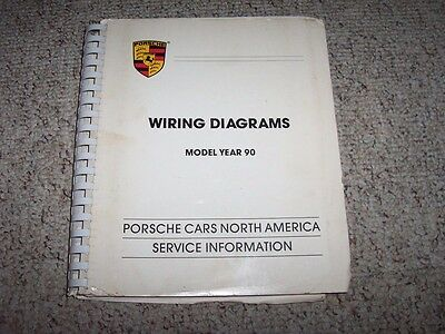 1990 porsche 911 carrera & turbo 964 3 3l electrical wiring diagrams manual  book