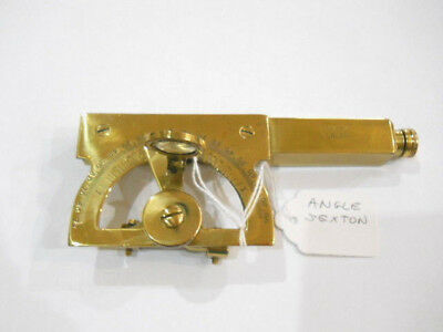 "Vintage Antique? Stanley London Nautical Maritime Brass Angle Sextant 5.5"" Long"