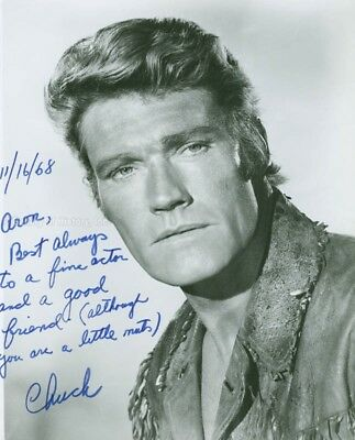 Chuck Connors - Inscribed Photograph Signed 11/16/1968