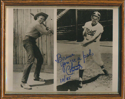 Chuck Connors - Inscribed Photograph Signed 10/85
