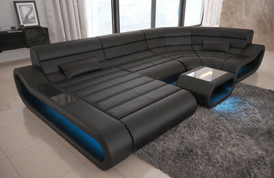 rundsofa wei ecksofa wohnlandschaft u form couch garnitur eur 1 00 picclick de. Black Bedroom Furniture Sets. Home Design Ideas