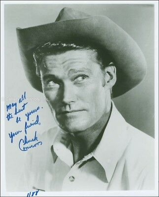 Chuck Connors - Photograph Signed 01/88