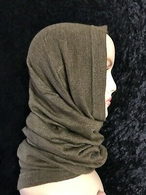 New Czech Military Surplus Tube Scarf Wool Blend Neck Gaiter Tactical Balaclava