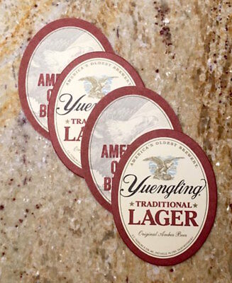 4 New YUENGLING TRADITIONAL LAGER Beer Logo Home Bar/Glass/Drink/Bottle COASTERS
