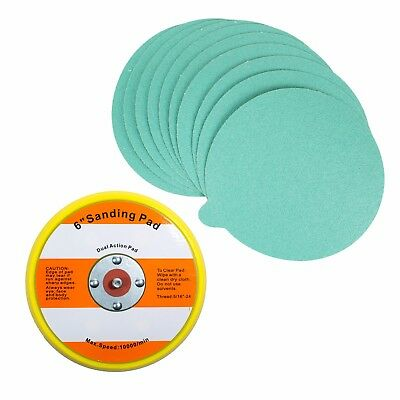 "6"" PSA Sanding Backup Pad with 10 pcs 80 grit PSA Sand Paper"